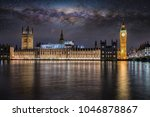 the westminster palace and big... | Shutterstock . vector #1046878867