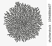 monochrome abstract vector... | Shutterstock .eps vector #1046886607