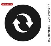 update icon vector. refresh... | Shutterstock .eps vector #1046954947