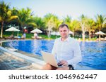 working on laptop from the...   Shutterstock . vector #1046962447