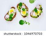 Egg and avocado sandwich...