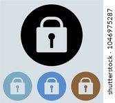 lock  round icon  glyph icon...