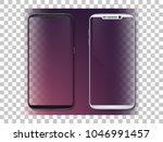 realistic smartphone mockup set.... | Shutterstock .eps vector #1046991457