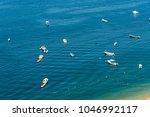 small boats in the sea | Shutterstock . vector #1046992117