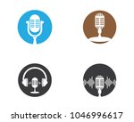 microphone vector icon | Shutterstock .eps vector #1046996617