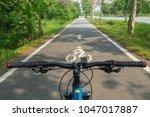 biking on bike lane.