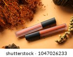 fashion colorful lipsticks over ... | Shutterstock . vector #1047026233