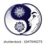 yin and yang symbol with... | Shutterstock .eps vector #1047040273