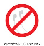 sign of no used earbud  dont... | Shutterstock .eps vector #1047054457