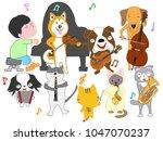 dog and cat concert. children...   Shutterstock .eps vector #1047070237