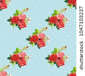 seamless floral pattern rose... | Shutterstock .eps vector #1047103237
