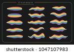 3d smear brush paint set.... | Shutterstock .eps vector #1047107983