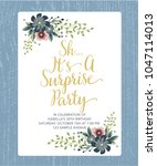 sh it's surprise birthday party ... | Shutterstock .eps vector #1047114013