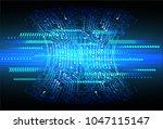 binary circuit board future... | Shutterstock .eps vector #1047115147