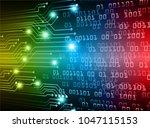 binary circuit board future... | Shutterstock .eps vector #1047115153