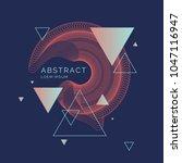 trendy abstract art geometric... | Shutterstock .eps vector #1047116947