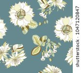 seamless pattern of floral... | Shutterstock .eps vector #1047120847