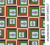 seamless abstract pattern with... | Shutterstock .eps vector #1047144517