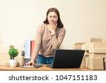 young asian online business...   Shutterstock . vector #1047151183