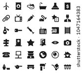flat vector icon set  ...   Shutterstock .eps vector #1047164383