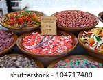 oriental sweets on the counter | Shutterstock . vector #104717483