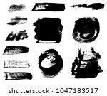 paint brush strokes set. grunge ... | Shutterstock .eps vector #1047183517