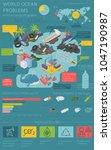 global environmental problems.... | Shutterstock .eps vector #1047190987