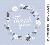 thank you greeting card with... | Shutterstock .eps vector #1047202267