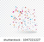 celebration with colorful... | Shutterstock . vector #1047221227