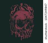 head skull illustration   Shutterstock .eps vector #1047249847
