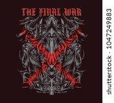 the final war illustration   Shutterstock .eps vector #1047249883