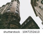 low angle view of buildings in...   Shutterstock . vector #1047252613