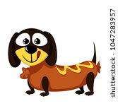 little dog   lovely little... | Shutterstock .eps vector #1047283957