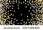 big golden confetti. festive... | Shutterstock .eps vector #1047286483