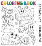 coloring book with small... | Shutterstock .eps vector #1047295393