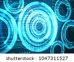 binary circuit board future... | Shutterstock .eps vector #1047311527
