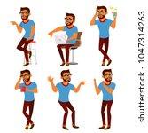 negativity expressing vector.... | Shutterstock .eps vector #1047314263