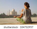 relaxing at taj mahal | Shutterstock . vector #104732957