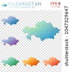 kazakhstan geometric polygonal  ... | Shutterstock .eps vector #1047329647