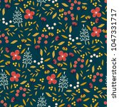 vintage floral pattern. cute... | Shutterstock .eps vector #1047331717