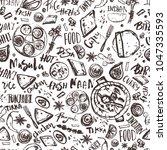 indian food seamless pattern... | Shutterstock .eps vector #1047335593