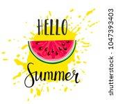 inscription hello summer and... | Shutterstock .eps vector #1047393403