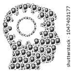 intellect gear illustration... | Shutterstock . vector #1047403177