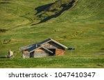 summer in alpe di siusi seiser... | Shutterstock . vector #1047410347