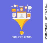 qualified leads   business lead ...   Shutterstock .eps vector #1047425563