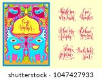 postcard creator   indian frame ... | Shutterstock .eps vector #1047427933