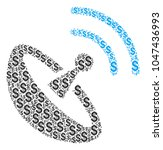 space antenna mosaic of dollar... | Shutterstock . vector #1047436993