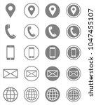 vector business card contact... | Shutterstock .eps vector #1047455107