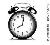 realistic black alarm clock.... | Shutterstock .eps vector #1047472747