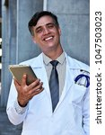 Small photo of Male Doctor And Happiness